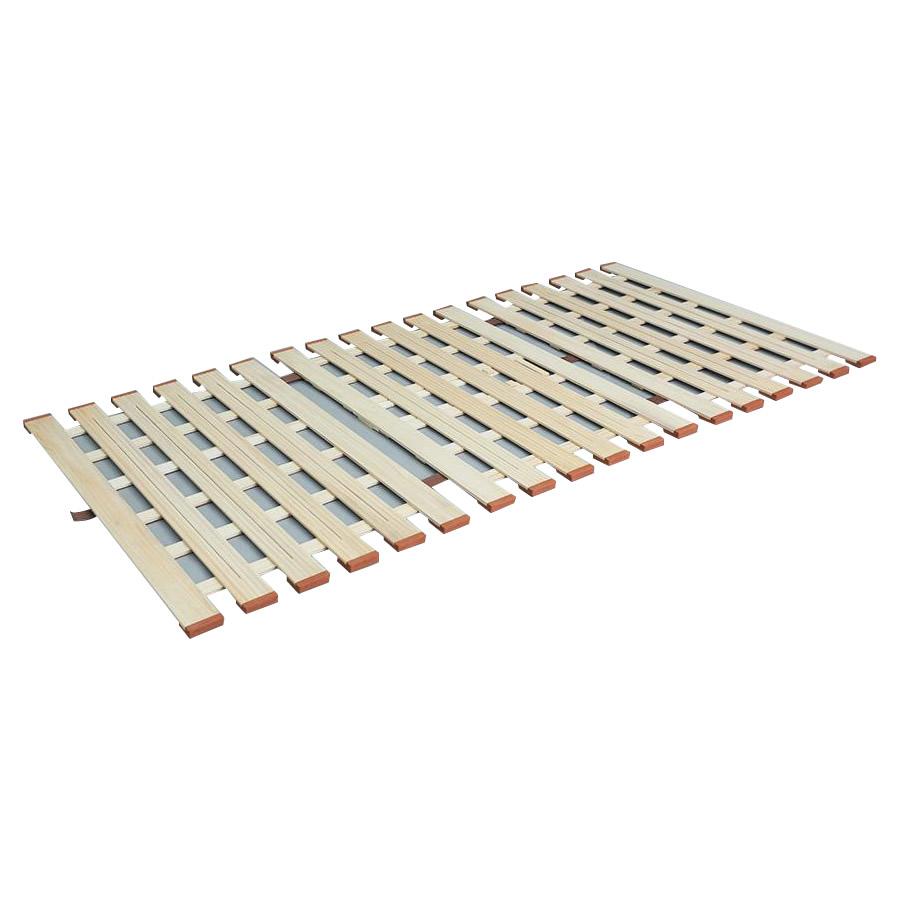 3つ折れマットレスに最適! 薄型軽量桐すのこベッド3つ折れ式 セミシングル LYT-80