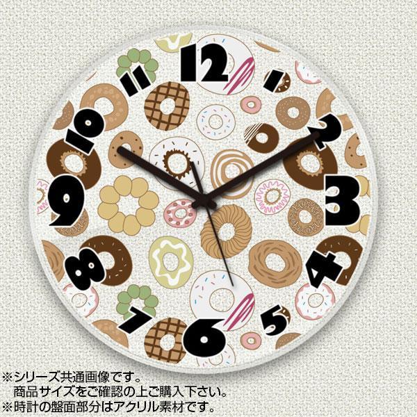 MYCLO(マイクロ) 壁掛け時計 アクリル素材(クリア) 丸型 23cm お菓子(ドーナツ) com680【送料無料】