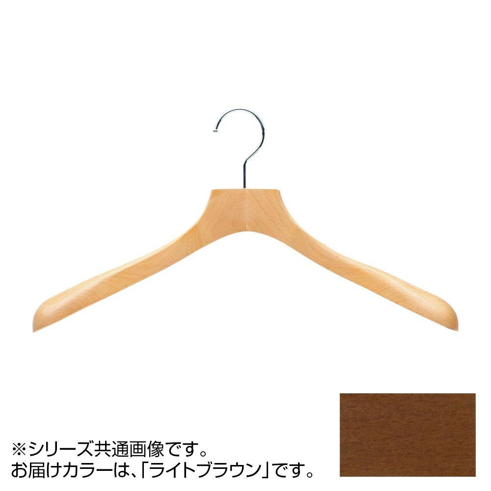 日本製 木製ハンガーメンズ用 ライトブラウン 5本セット T-5010 肩幅42cm×肩厚4.8cm