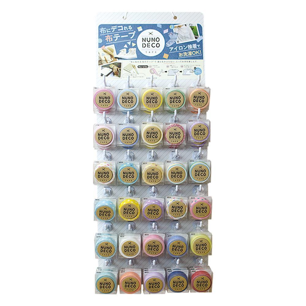 KAWAGUCHI(カワグチ) 手芸用品 NUNO DECO SERIES ヌノデコテープ 吊り下げボードセット 11-872デコレーション マスキングテープ 布用テープ