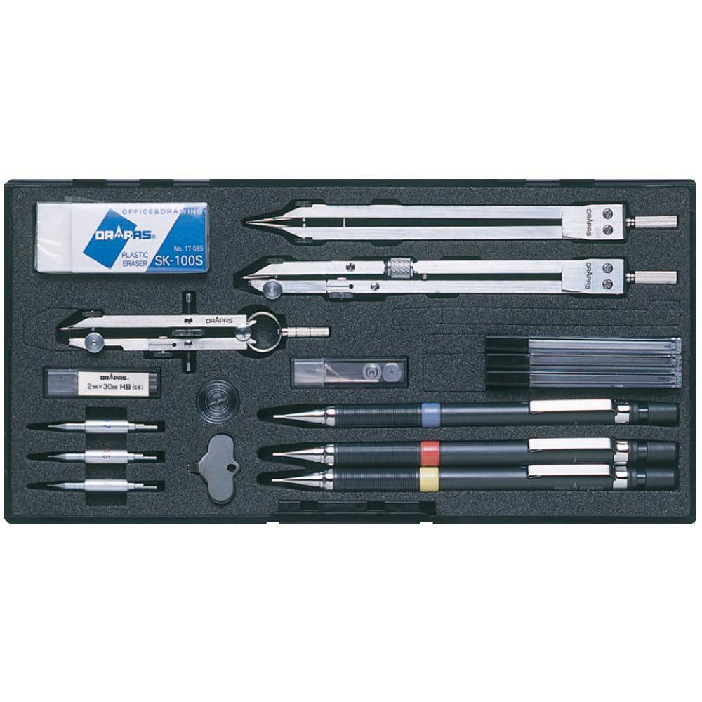 ドラパス NO.429 独式製図器セット 9本組20品