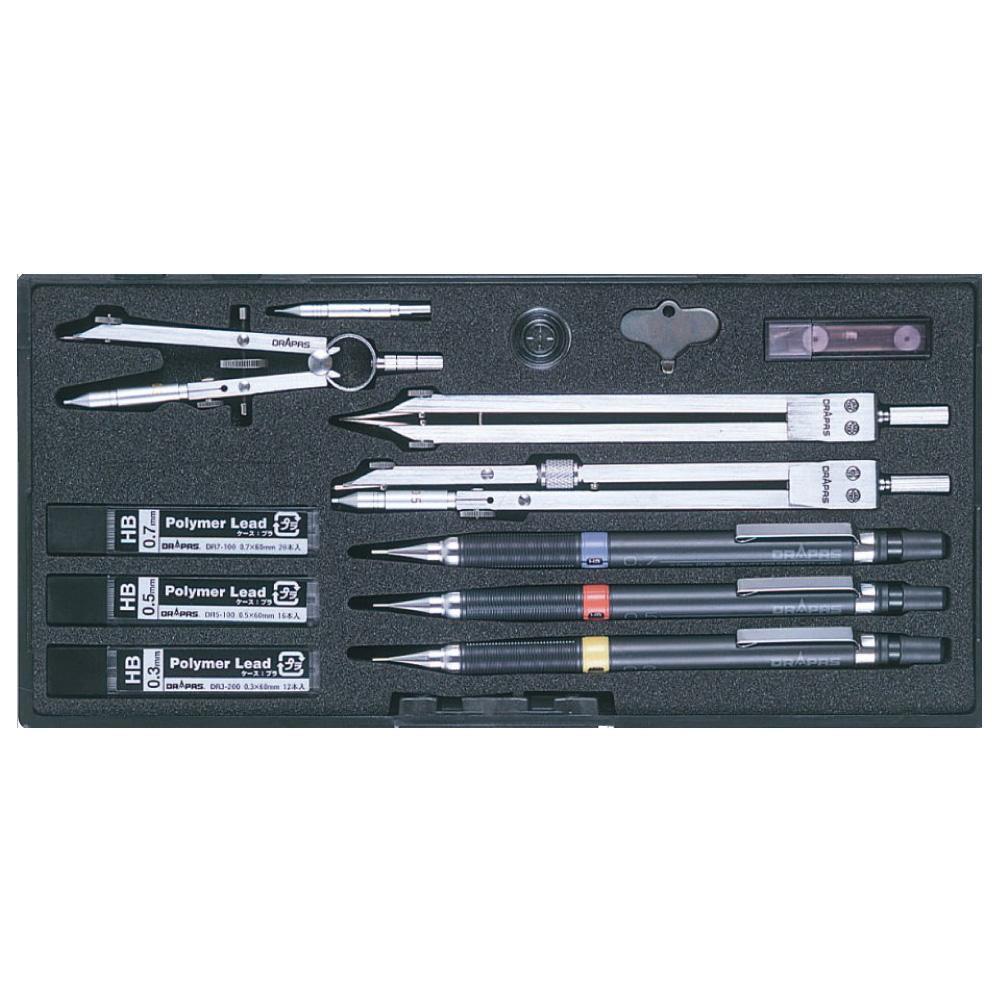 ドラパス NO.442 独式製図器セット 7本組16品