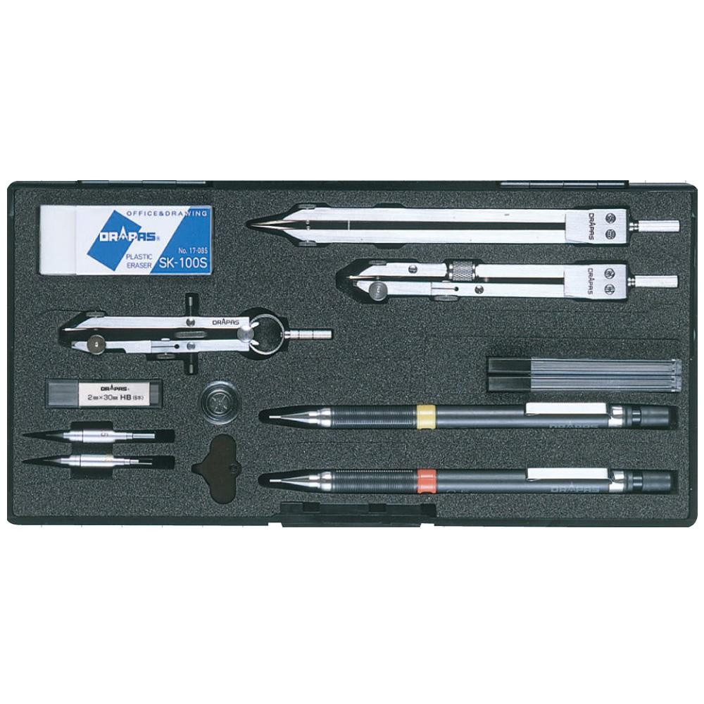 ドラパス NO.518 独式製図器セット 7本組16品