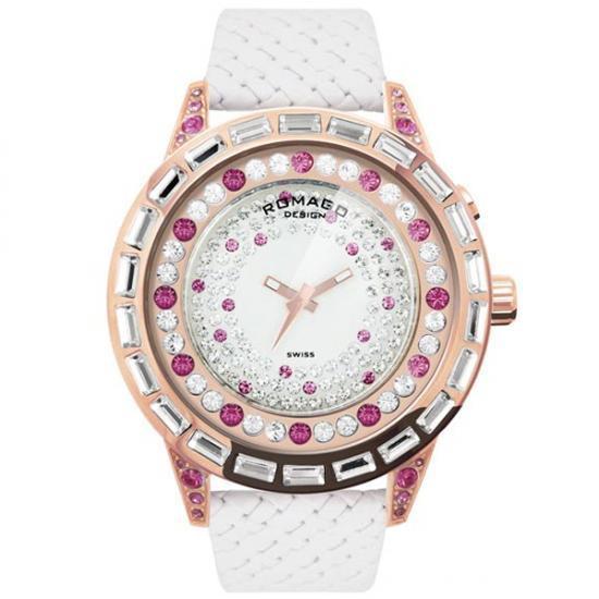 ROMAGO DESIGN (ロマゴデザイン) Dazzle series ダズルシリーズ 腕時計 RM006-1477RG-PK【送料無料】