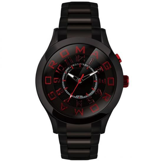 ROMAGO DESIGN (ロマゴデザイン) Attraction series アトラクションシリーズ 腕時計 RM015-0162SS-BKRD【送料無料】