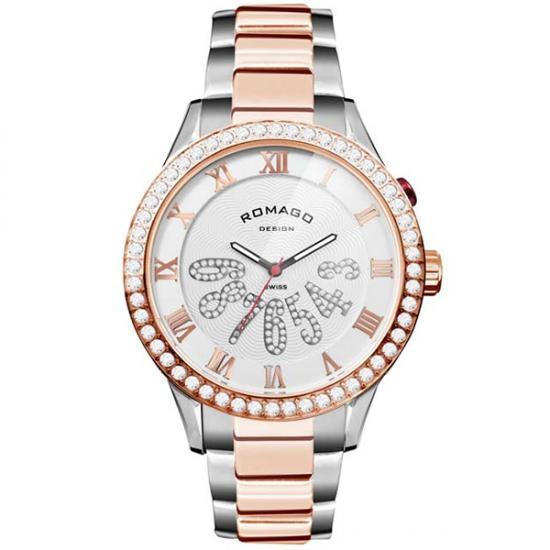 ROMAGO DESIGN (ロマゴデザイン) Luxury series ラグジュアリーシリーズ 腕時計 RM019-0214SS-RGWH【送料無料】