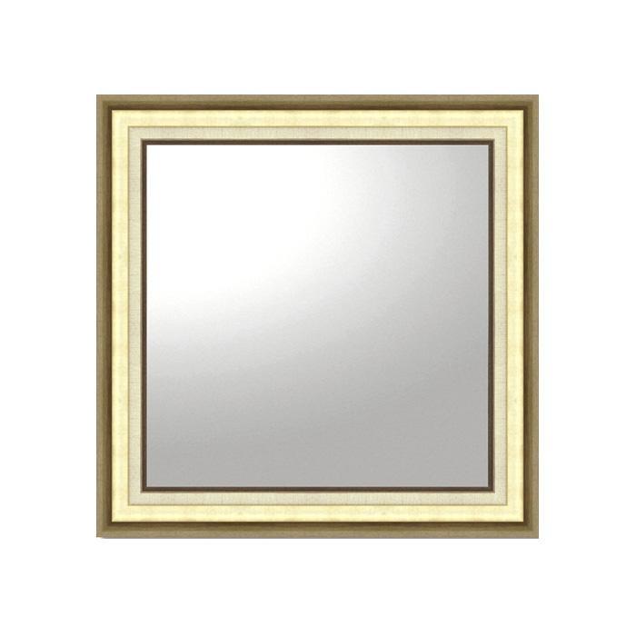 ユーパワー デコラティブ 大型ミラー モダン 正方形(ゴールド) BM-16025アクセントミラー おしゃれ 鏡