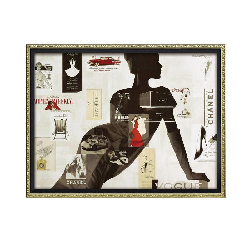 ユーパワー オマージュ キャンバスアート 「ハイファッション1(Lサイズ)」 BC-18017