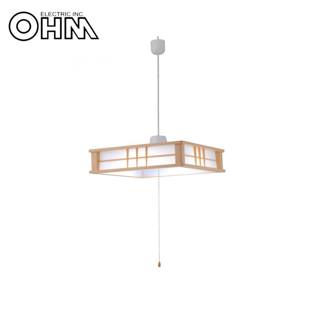 オーム電機 OHM LED和風ペンダントライト 調光 6畳用 40W LT-W40D6G