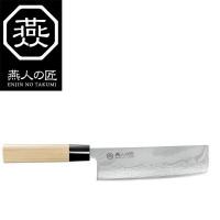 燕人の匠 ダマスカス 菜切包丁 165mm ETW-2001【送料無料】