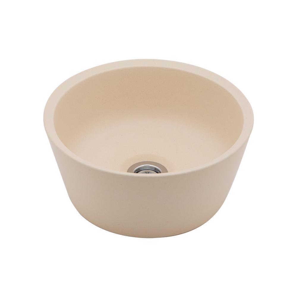 置き型手洗器Φ240(モノクローム・シリーズ/練色) LSM6S-NE