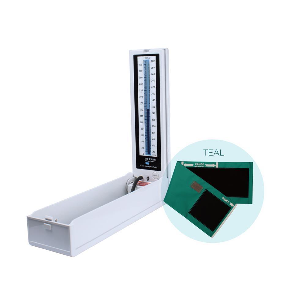 マーキュリーフリー血圧計 ナイロンカフ ティール FC-500 NC 20901-10【送料無料】