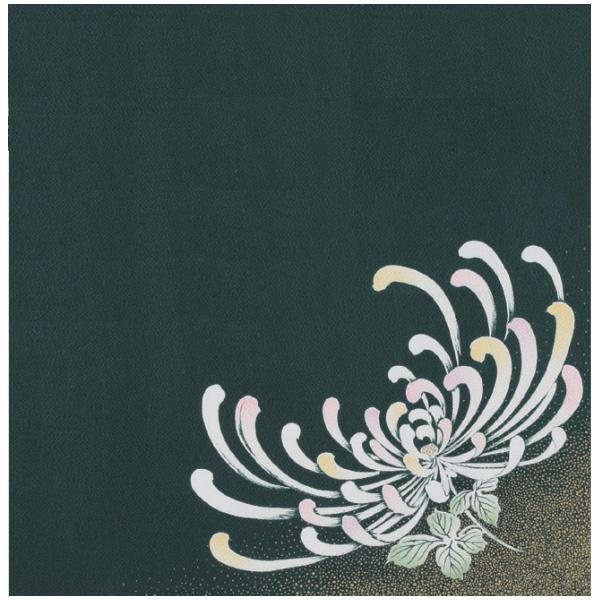 宮井 ふろしき 絹75cm幅 乱菊 鉄グリーン/金茶 11-5447-80プレゼント ギフト 贈り物