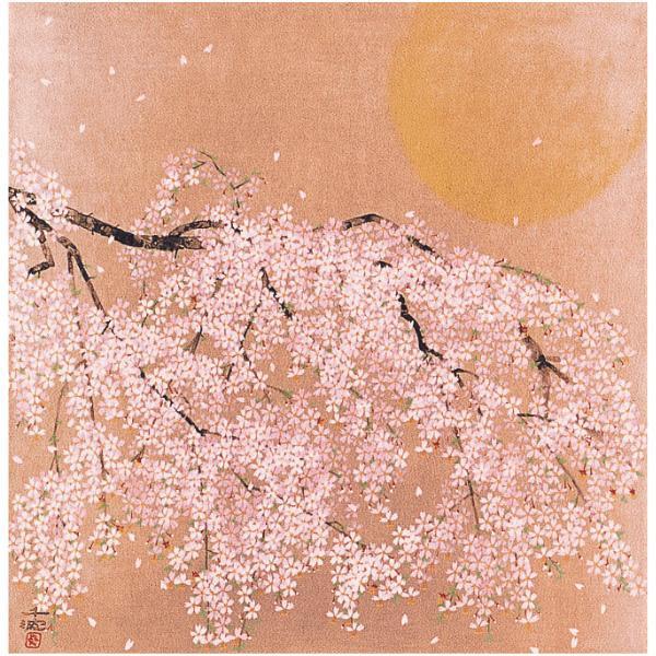 宮井 ふろしき 名作ふろしき 絹68cm幅 中島千波 桜花風月 11-4665-05ギフト かわいい おしゃれ