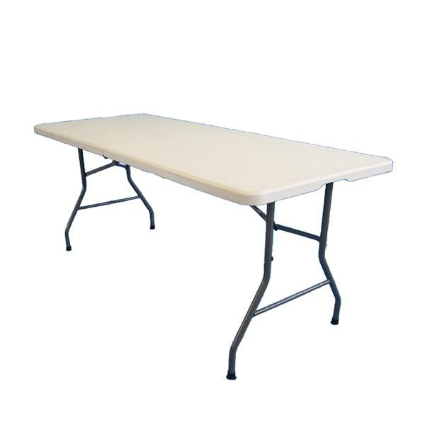 PE折り畳みテーブル 約180cm TAN-599-180【送料無料】
