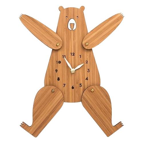 Made in America DECOYLAB(デコイラボ) 掛け時計 BEAR クマ竹 壁掛け時計 くま
