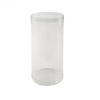 マカロンなどのカラフルなお菓子と組み合わせてキュートに 人気ブレゼント 梱包資材 ラッピング用品 大規模セール クリアケース PVC円筒ケース 72個セット 200918 M9-18