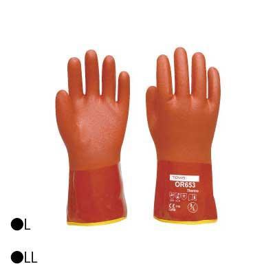 東和コーポレーション(TOWA) 防寒用手袋 ソフトビニスター防寒用インナー付 6双 ブラウン OR653【送料無料】