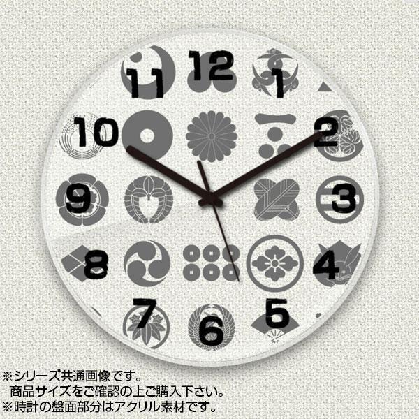 MYCLO(マイクロ) 壁掛け時計 アクリル素材(クリア) 丸型 23cm 和風デザイン 家紋 com207【送料無料】