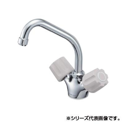 三栄 SANEI U-MIX ツーバルブワンホール混合栓 寒冷地用 K811K-LH-13-23