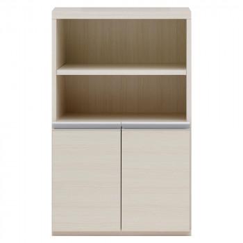 収納棚 オープン棚 + 戸棚 ホワイトウッド ECS-61H白 マルチラック 多目的ラック