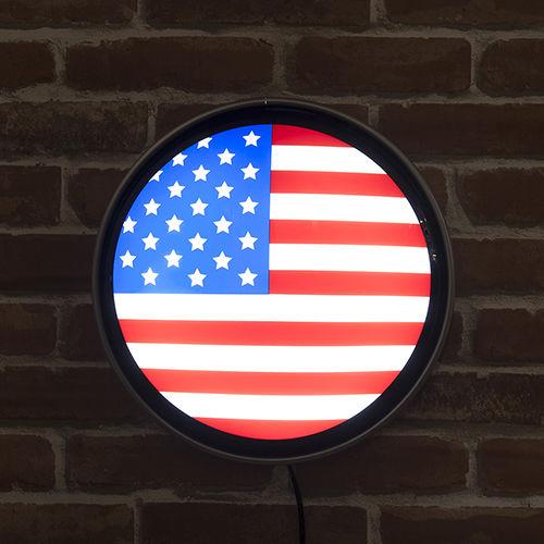 ラウンド ウォールランプ US Flag US Flag【MLG-1081】