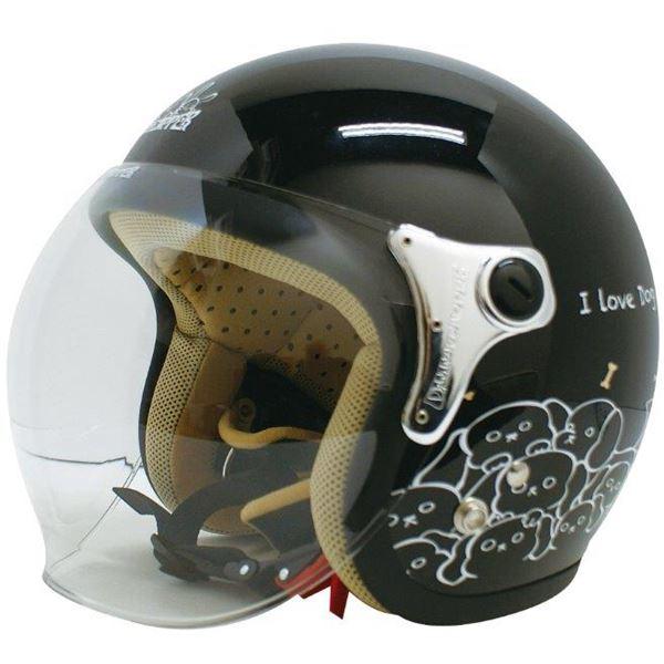 ダムトラックス(DAMMTRAX) ジェットヘルメット CARINA P.ブラック-DOG レディースフリー(57~58cm)