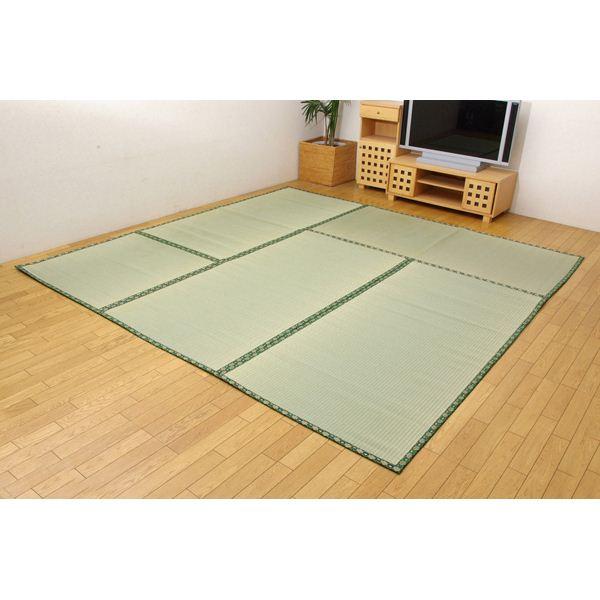 【送料無料】糸引織 い草上敷 『四季の暮らし』 江戸間6畳(約261×352cm)