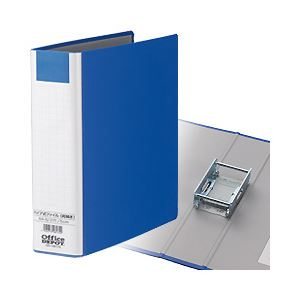 【業務用パック】両開きパイプ式ファイル(タテ・2穴) A4タテ とじ厚5.0cm ブルー 1箱(30冊)