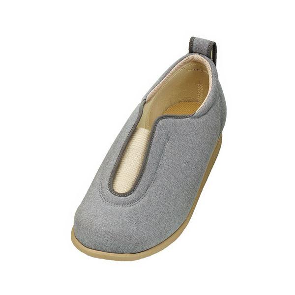 介護靴 施設・院内用 センターゴム2 1023 両足 徳武産業 あゆみシリーズ /S (21.0~21.5cm) グレー:ワールドデポ