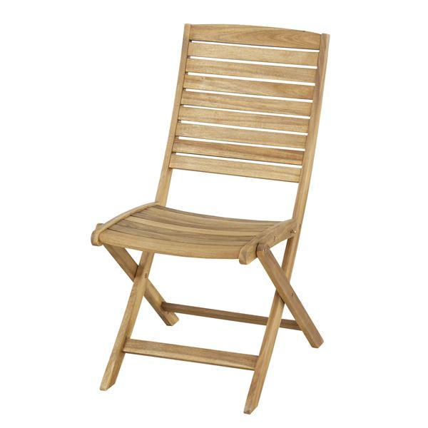 【送料無料】折りたたみ椅子/チェア 【Nino】ニノ 木製(アカシア/オイル仕上げ) NX-801【完成品】