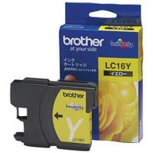【送料無料】(業務用8セット) brother ブラザー工業 インクカートリッジ 純正 【LC16Y】 イエロー(黄) ×8セット