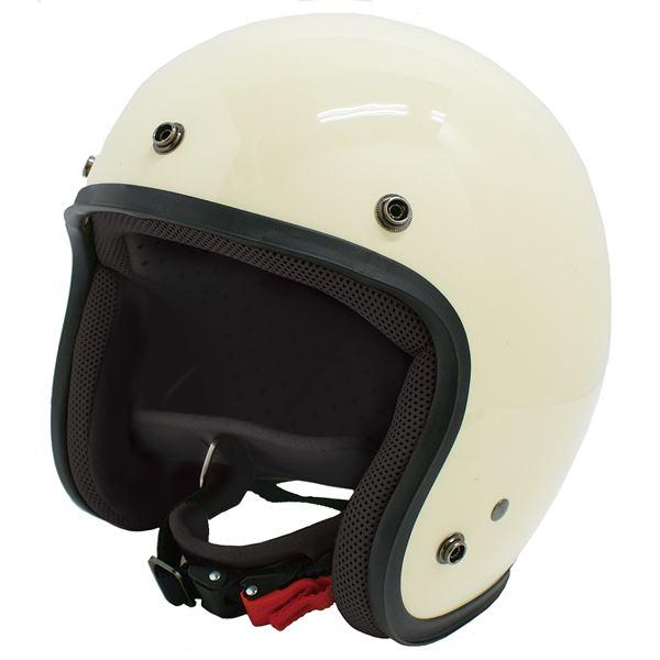 ダムトラックス(DAMMTRAX) ジェットヘルメット ジェット-D パールアイボリー メンズ (57cm~60cm未満)