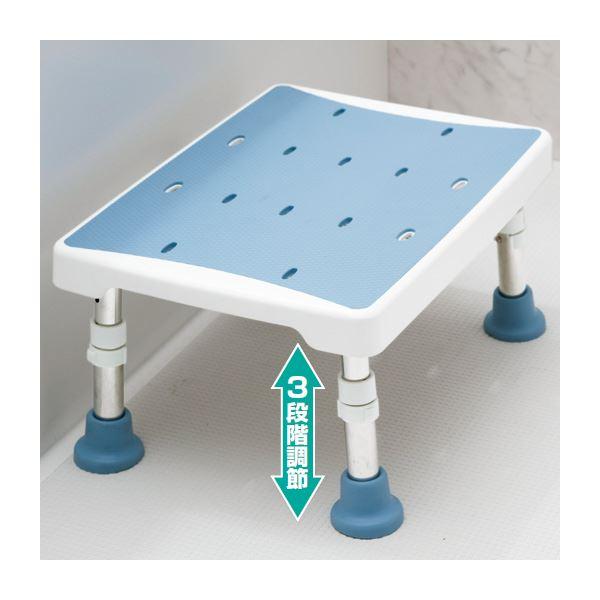 【送料無料】浴室用2ウェイステップ台(風呂椅子/踏み台) 幅40cm×奥行30cm 脚ゴム付き ブルー(青)