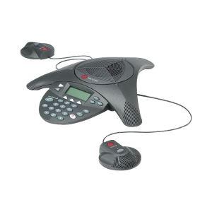 【送料無料】Polycom PPSS-2/電話会議システム SoundStation2EX(拡張マイク接続可能モデル※マイク別売り) 2200-16200-002