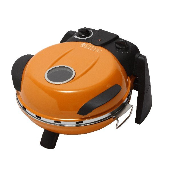 【送料無料】さくさく石窯ピザメーカー/キッチン家電 【オレンジ】 3段階温度調節可 15分タイマー付き FPM-160or【代引不可】