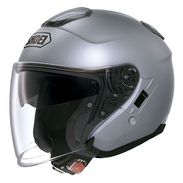 【送料無料】ジェットヘルメット シールド付き J-CRUISE パールグレーメタリック M 【バイク用品】