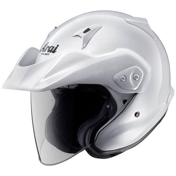 【送料無料】アライ(ARAI) ジェットヘルメット CT-Z グラスホワイト L 59-60cm