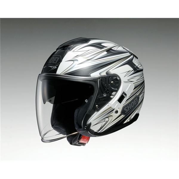 【送料無料】ジェットヘルメット シールド付き J-CRUISE CLEAVE TC-6 ホワイト/グレー L 【バイク用品】