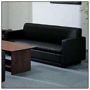 【送料無料】コクヨ 3人掛けソファー 本体 本革製 ブラック CE-253CLGB6 【オフィス応接用】