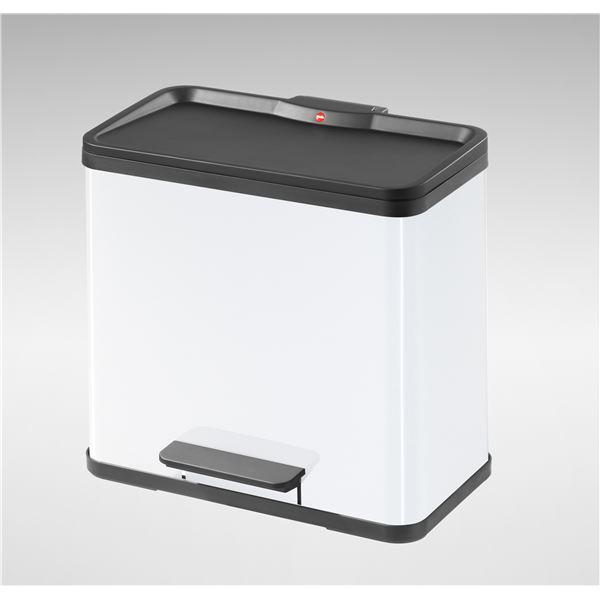 【送料無料】Hailo(ハイロ) トレントエコデュオ 30(19L+11L)ホワイト(ゴミ箱・ダストBOX) 60071