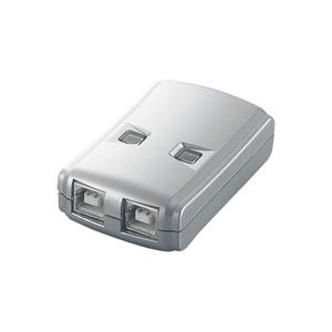 【送料無料】(業務用5セット)エレコム ELECOM USB2.0手動切替器 2切替 USS2-W2