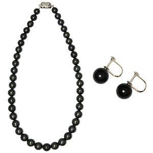 【送料無料】【鑑別付】タヒチ産真珠 T-1 8~10mm ネックレス+イヤリングセット(ケース付)