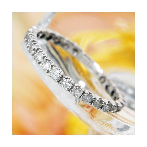 【送料無料】プラチナPt900 0.5ctダイヤリング 指輪エタニティリング 17号