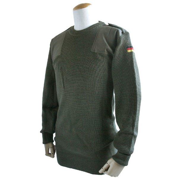 【送料無料】ドイツ軍放出 BWウールコマンドセーター JW016NN オリーブ 48( L) 【 デットストック 】 【 未使用 】