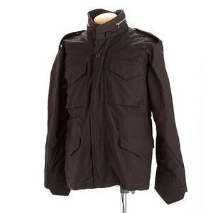 【送料無料】米軍 M-65 フィールドジャケット ブラック S 【 レプリカ 】