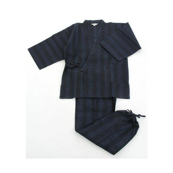 【送料無料】纏(まとい)織作務衣 141-1905 紺 LLサイズ