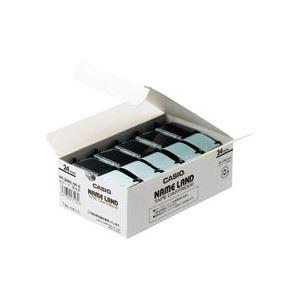【送料無料】(まとめ) カシオ(CASIO) NAME LAND(ネームランド) スタンダードテープ 24mm 白(黒文字) 5本入×6パック