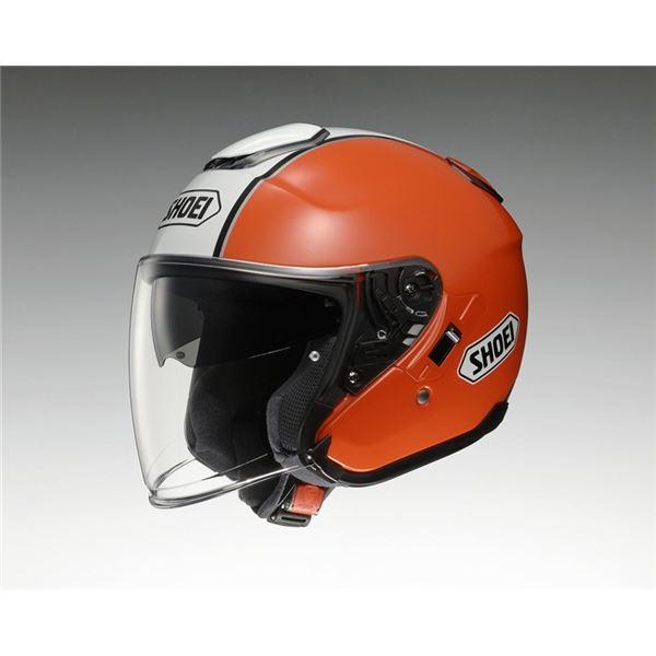 【送料無料】ジェットヘルメット シールド付き J-CRUISE CORSO TC-8 オレンジ/ホワイト L 【バイク用品】