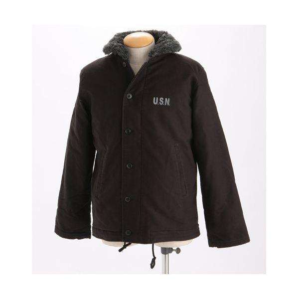 【送料無料】米軍 『N-1』DECK ジャケット ブラック Mサイズ